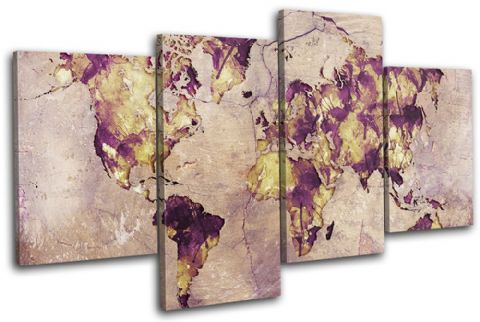 Watercolour  Abstract Maps Flags - 13-6012(00B)-MP04-LO
